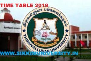 Thiruvalluvar University Exam Schedule 2020 April May & Nov. Dec. UG PG Exam 1