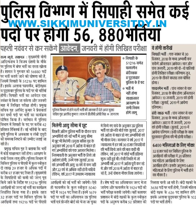 UP Police 49568 Constable M/F भर्ती 2018 - UPPRPB Constable Recruitment Online Apply 3