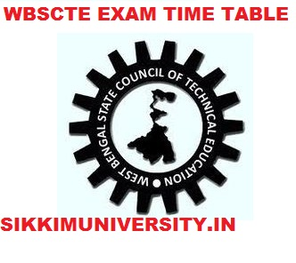 WBSCTE Exam Schedule 2019-20 - WBSCTE Polytec. Diploma  1/3/5 Sem Time Table 2019 1
