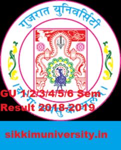 Gujarat University Sem. Ist 3rd 5th Nov/Dec Result 2020-21, BA BSC BCOM Odd Sem Results 1