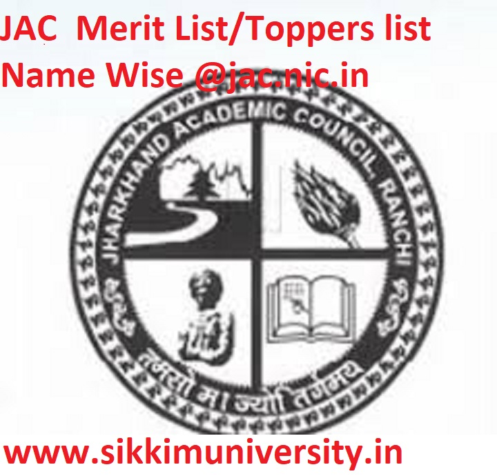 JAC Madrsha/.Vocational Result March 2020, JAC  Merit List/Toppers list Name Wise @jac.nic.in 1