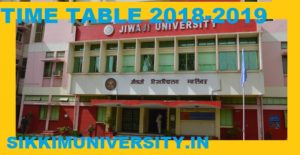 Jiwaji University Exam Date Sheet 2019-20 PG/UG exam Scheme 1