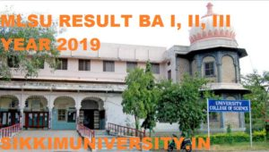 MLSU Result 2020 Part Ist, 2nd, 3rd Year BA BSC BCOM MA MSC MCOM Name Wise 2