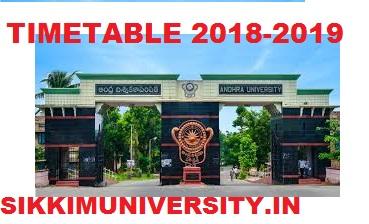 Andhra University Degree Sem. Time Table 2019-20, AU BA BSC BCOM ODD/EVEN Sem Datesheet 2020 1
