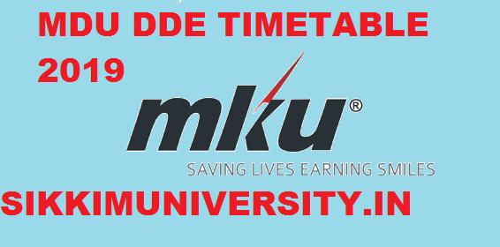 MKU DDE Sem. Exam Schedule 2019-2020, இங்கே பார் B.Com B.Sc BA (UG) Odd Sem Nov/Dec Exam Date 1