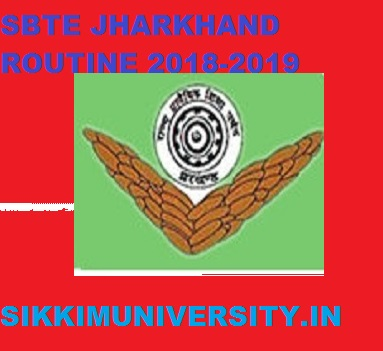 SBTE Jharkhand ROUTINE 2020-21, Sbtejharkhand.nic.in 1/3/5 Sem Exam Time Table/Dates 2021 1