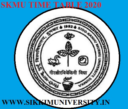 SKMU 2019-20 Nov.-Dec.Schedule 1/3/5 Semester TimeTable Download 1