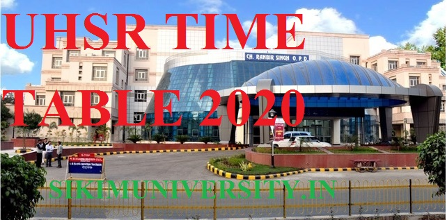 UHS Rohtak Date Sheet 2020 Part I, II, III Year Download - BDS University of Health Sciences Time Table 2020 1