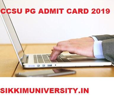 CCS University PG Hall Ticket 2019, CCSU MCOM MA MSC Admit Card 2019 1