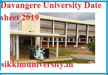 Davangere University Exam Schedule  2019-2020 BA MA BSC MSC BCOM MCOM Time Table pdf 1