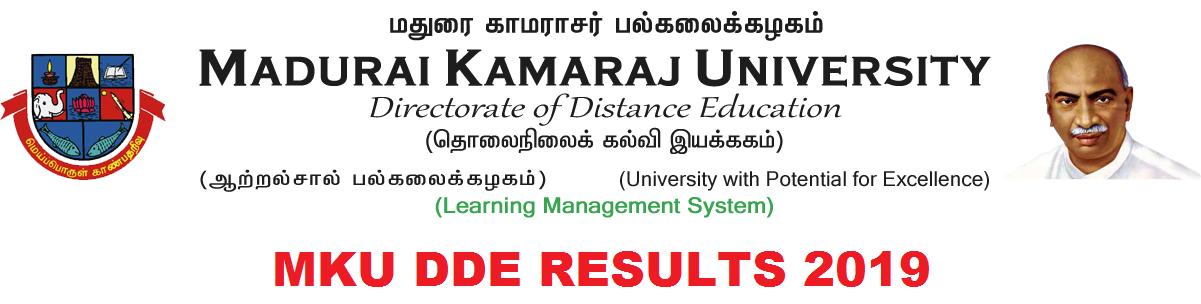 MKU DDE Results 2019-20 1st/ 2nd/3rd Year Results BA BSC BCOM MA MCOM Exam 1