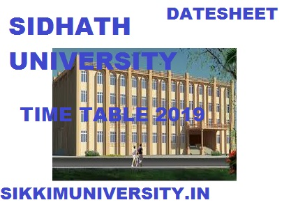 OUT* Siddharth University TimeTable BA BSc BCom 1st 2nd 3rd