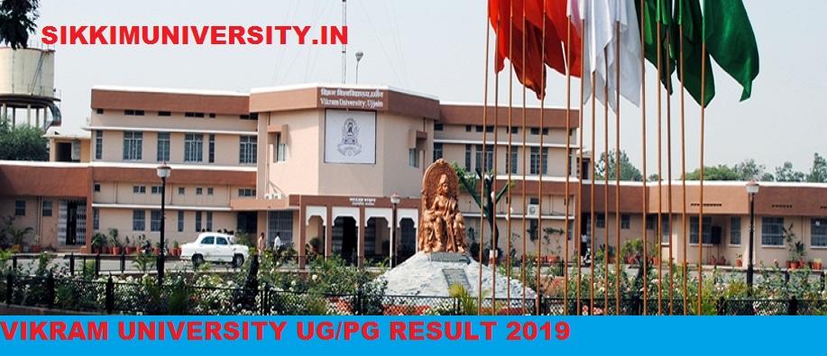 Vikram University Result 1st,2nd,3rd Year 2019 UG/PG Semester Result