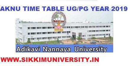 AKNU Degree 1st,2nd,3rd Year Time Table 2021, Adikavi Nannaya University Exam Schedule 2021 1