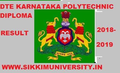 DTE Karnataka Diploma Results Dec. 2019-20- Karnataka Dip. 1/3/5 Sem Result Nov 2019 1