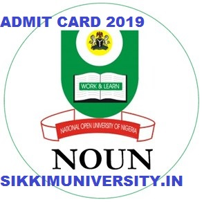 NOU Undergraduate Admit Card 2019 BSC BA BCOM Exam Hall Ticket 1