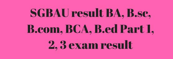 SGBAU B.Com Part I, II, II