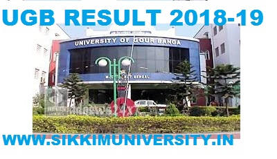 Gour Banga University Ist, 2nd, 3rd Year Result 2019 BA BCOM BSC MA Exam 1