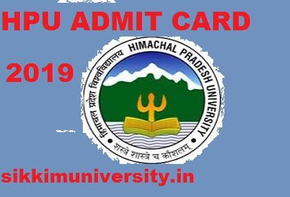 Himachal University Admit Card 2019 Download HPU Exam Hall