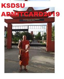 KSDSU Shastri /Acharya Admit Card 2019-20 Hall Ticket at ksdsu.edu.in 1