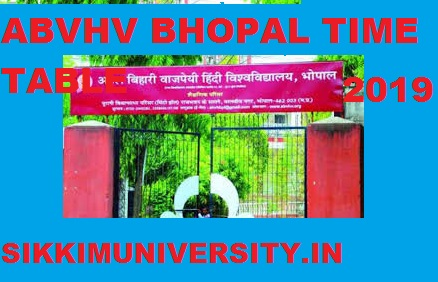 ABVHV Date Sheet 2019-20 Ist, 2nd 3rd Year BA BSC BCOM MA MSC MCOM Exam Time Table 1