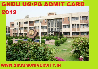 GNDU Ist, 2nd, 3rd Year Admit Card 2020, Guru Nanak Dev University Part I, II, III Roll No. Slip Download 1