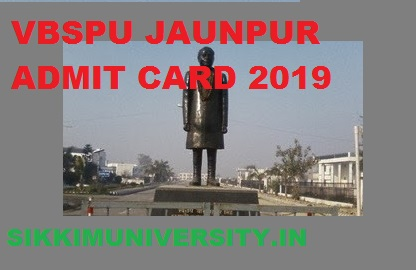 VBSPU Ist, 2nd, 3rd Year Admit Card 2020 BA BCOM BSC MA MCOM Exam Hall Ticket 1