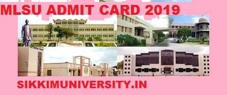 MLSU Ist, 2nd,3rd Year Admit Card 2020 BA BCOM BSC MA Private and Regular Exam 1