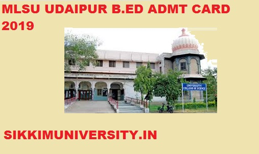 MLSU Ist  2nd Year BED  Admit Card 2020 Download at www.mlsu.ac.in 1