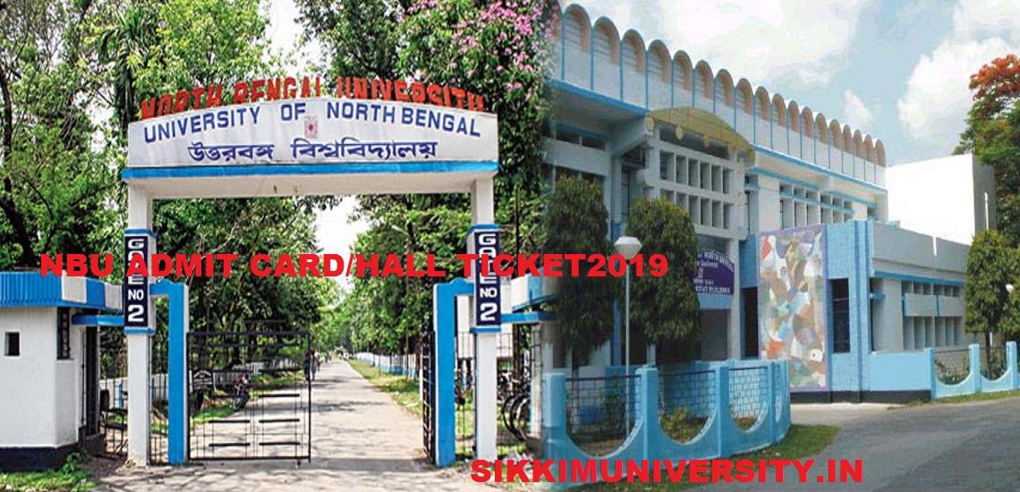 NBU 1st, 2nd, 3rd Year Admit Card 2021- University of North Bengal UG/PG Hall Ticket 2021 1