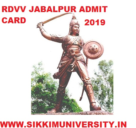 RDVV Ist, 2nd, 3rd Year Admit Card 2020 BA/BSC/BCOM/MA Sem. Exam Hall Ticket 1