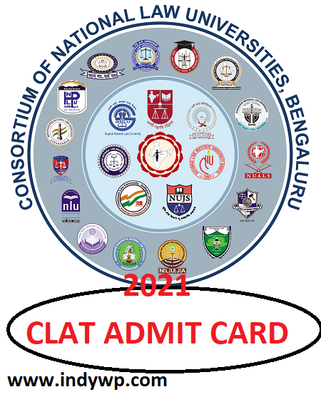 CLAT Hall Ticket 2021 Release Download - Common Law Admission Test (CLAT) Admit Card Release Date 1