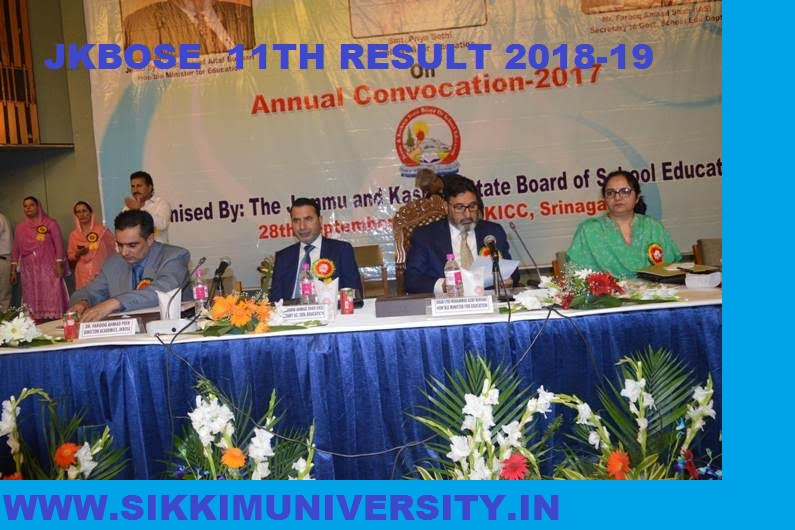 JK Board 11th Result 2020 (Annual) Winter Zone Jammu and Kashmir Divn. 1