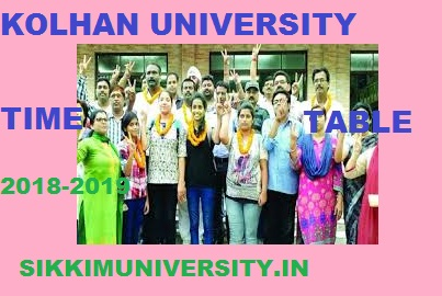 Kolhan University Exam Schedule 2020 Part I, II, III BA BSC BCOM MA Exam Date sheet 1