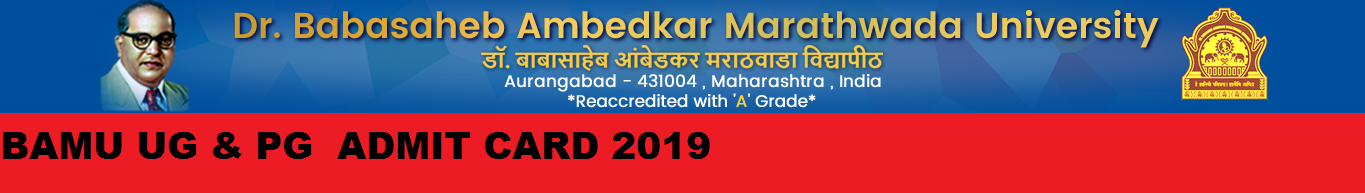 BAMU Ist, 2nd, 3rd Year Admit Card 2020 BSC BA BCOM MA MCOM MSC Exam Hall Ticket 1