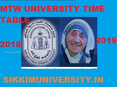 Mother Teresa Women's University Time Table 2019-20 BA BSC BCOM MA MSC Exam Ist, 2nd, 3rd Year Date Sheet 1