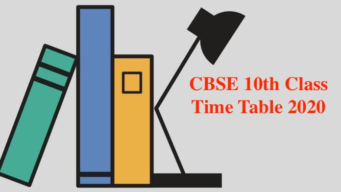 CBSE-10th-Time-Table-2020