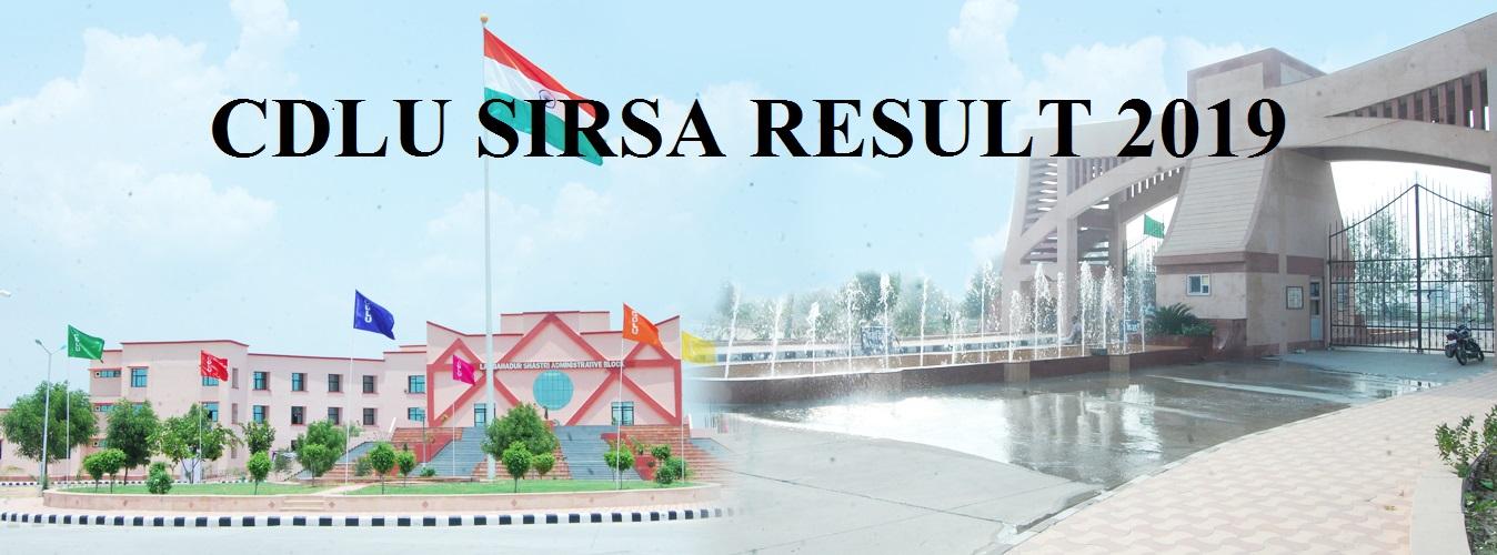 CDLU Sirsa Sem. Results 2021 Ist, 2nd, 3rd BA BCOM BSC MA MSC Result 1