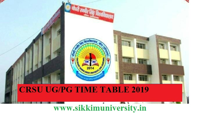 CRSU Jind Ist, 2nd, 3rd Year Date Sheet 2020 BA BSC BCOM MA MSC Time Table 1