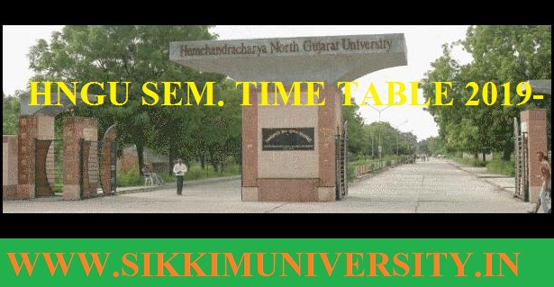 HNGU Time Table 2020 March-June Ist, 2nd, 3rd Year BA BSSC BCOM MA Exam Date sheet 1