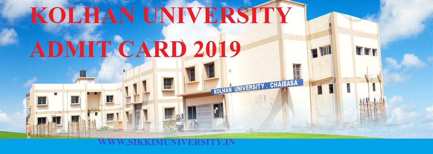 Kolhan University Ist, 2nd, 3rd Year Admit Card 2020 BA BSC MA MCOM BCOM Exam 1