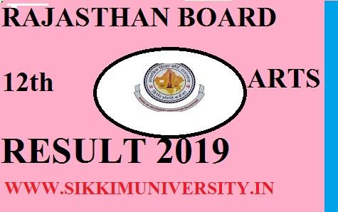 राजस्थान बोर्ड 12th आर्ट्स रिजल्ट 2020 - जारी हुआ RBSE 12वीं Arts नतीजा 2020 1