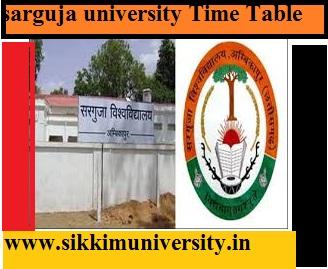Sarguja University Time Table 2019-20 BA MA BSC MSC BCOM Date Sheet 1