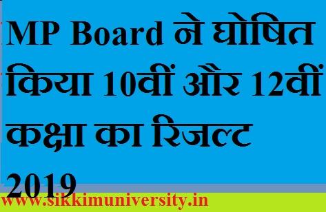 MP Board ने घोषित किया 10वीं और 12वीं कक्षा का रिजल्ट 2020 1
