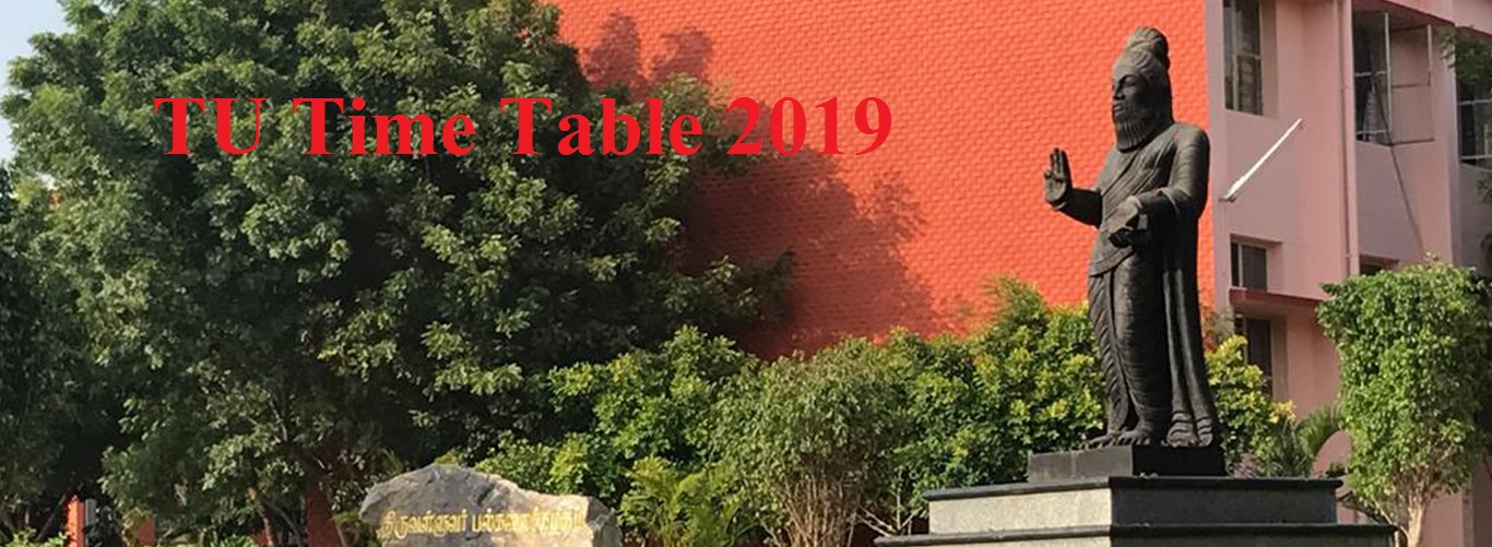 Thiruvalluvar Univeristy Time Table 2021 Ist, 2nd, 3rd Year April May BA BSC BCOM MA Date Sheet 1