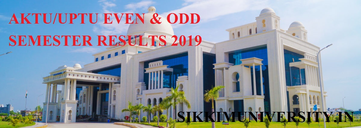 AKTU UPTU Semester Results 2020, AKTU PG/UG Results at AKTU.AC.IN 1