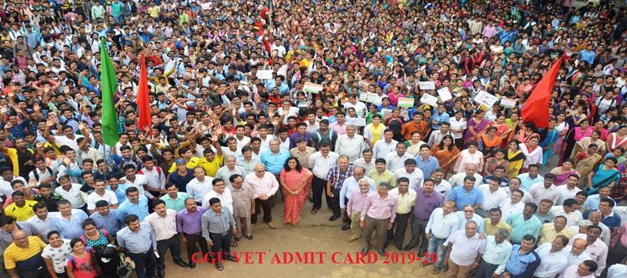 GGU Admit Card Entrance Exam 2019-2020 VET Exam Date Sheet/Time Table 1