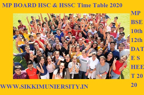 MP BOARD HSC & HSSC Time Table 2021, MPBOSE 12th &10th Exam Date sheet 2021 1