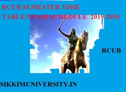 RCUB Semester Time Table 2020, Rcub.ac.in BA BCOM BSC 1, 3, 5 Sem Exam Date 1