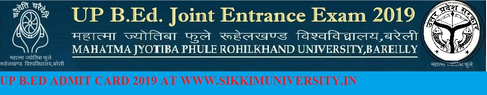 UP B.ED JEE Entrance Exam 2019 Exam Hall Ticket/Admit Card Download 1